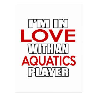 I'm in love with AQUATICS Player Postcard