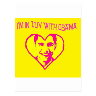 I'm in Love With Obama Postcard