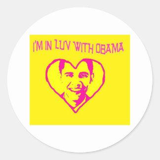 I'm in Love With Obama Round Sticker