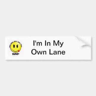 Im In My Own Lane Bumper Sticker