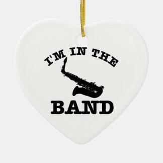 I'm in the band Saxophone designs Ceramic Ornament