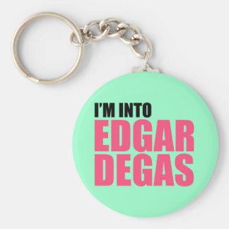 I'm Into Edgar Degas Basic Round Button Key Ring