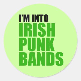 I'm Into Irish Punk Bands Round Sticker