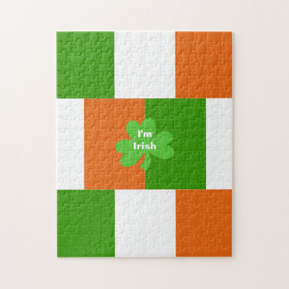 I'm Irish Flag of Ireland Optional Words Jigsaw Puzzle