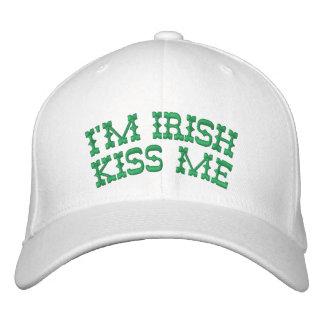 I'M Irish, Kiss Me Monogram at the Back Embroidered Hat