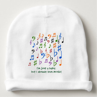 I'm just a baby, but I already love music! Baby Beanie