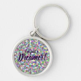 I'm just a dreamer circle rainbow design purple te key ring