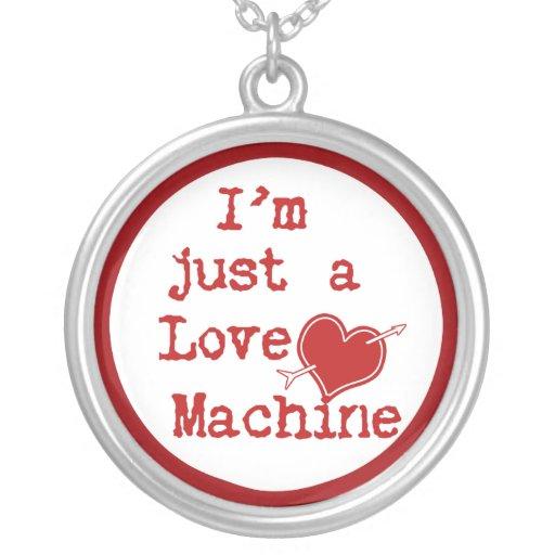 I'm Just a Love Machine Text Design Jewelry