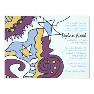 "IM JUST COOL Bar Bat Mitzvah Invitation Invite 5.5"" X 7.5"" Invitation Card"