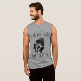 I'm Just Here For the Pizza (Men's) Sleeveless Shirt