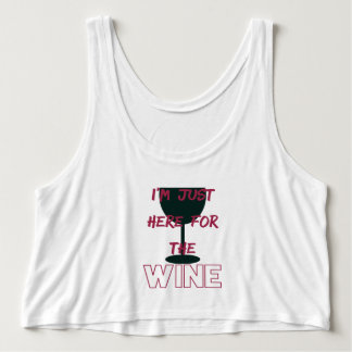 I'm Just Here for the Wine Singlet