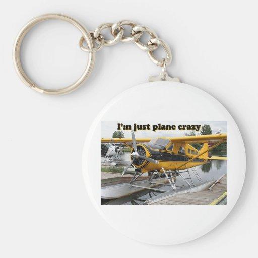 I'm just plane crazy: float plane keychain
