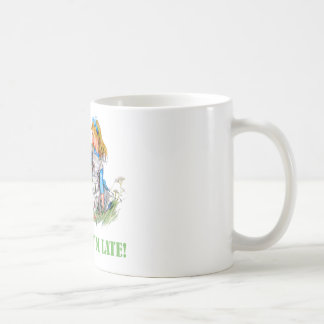 I'M LATE, I'M LATE! FOR A VERY IMPORTANT DATE! COFFEE MUG