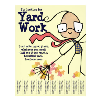I'm looking for Yard Work Full Color Flyer