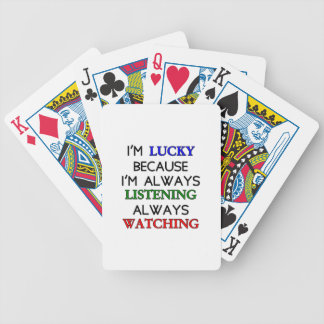 I'm Lucky Bicycle Playing Cards