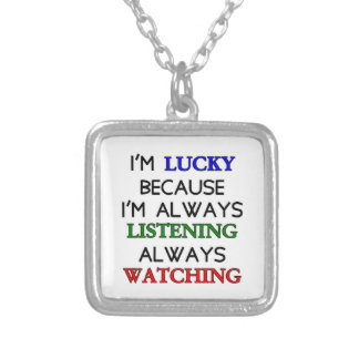 I'm Lucky Silver Plated Necklace