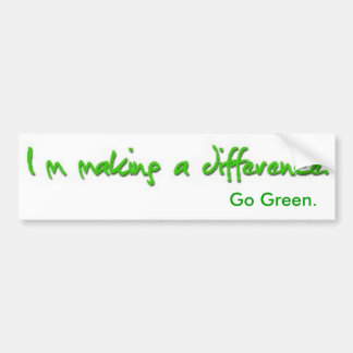 Im Making A Difference Bumper Sticker