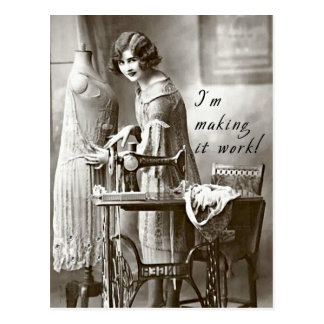 I'm Making it Work Postcard