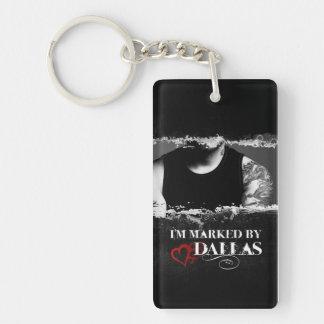 I'm Marked Keychain: Dallas Double-Sided Rectangular Acrylic Key Ring