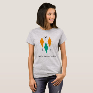 I'm Mid Century Modern Diamonds Orange Turquoise T-Shirt