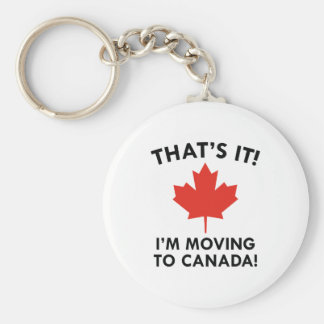 I'm Moving To Canada Key Ring