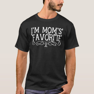 I'm Mum's Favourite Son Dark T-Shirt