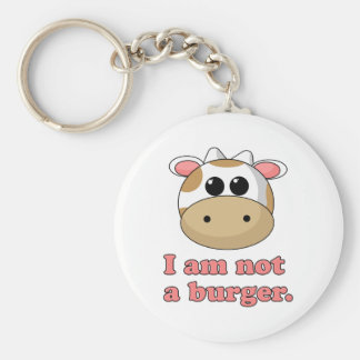 I'm Not a Burger Basic Round Button Key Ring