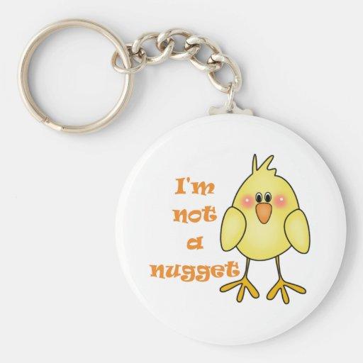 I'm Not A Nugget Vegan/Vegetarian Keychain