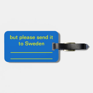 I'm not a Swede Travel Bag Tag