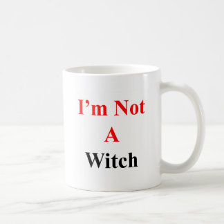I'm not a witch coffee mugs