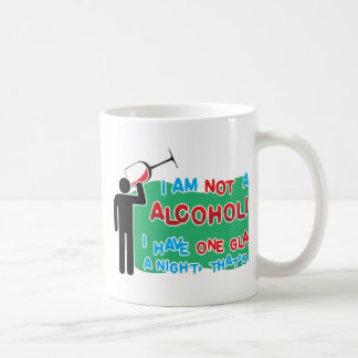 I'm NOT an alcoholic! Classic White Coffee Mug