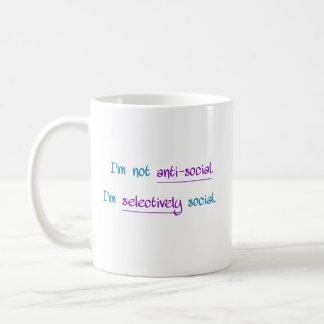 I'm Not Anti-Social Coffee Mug
