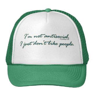 I'm not antisocial Hats