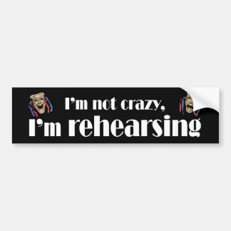 I'm Not Crazy Bumper Sticker