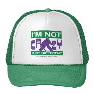 I'm Not Crazy, Funny Hockey Goalie Hat