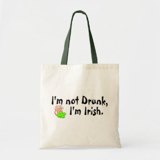 Im Not Drunk Im Irish Beer and Clover Tote Bag