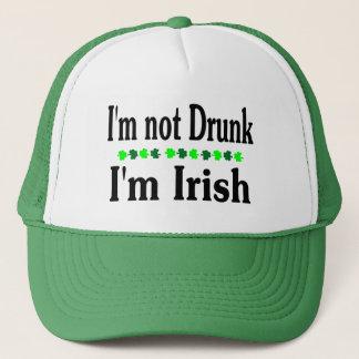 Im Not Drunk Im Irish Clovers Trucker Hat