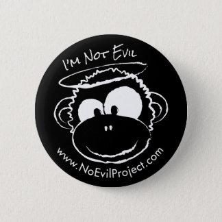 I'm not Evil Monkey Buttons - Black