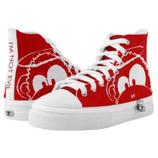I'm Not Evil - Red High Tops