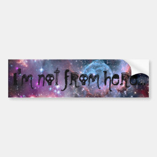 I'm not from here galaxy print sticker