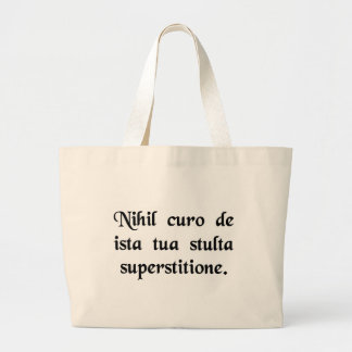 I'm not interested in your dopey religious cult. tote bag