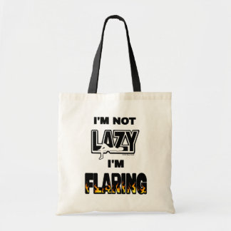I'M NOT LAZY I'M FLARING TOTE BAG
