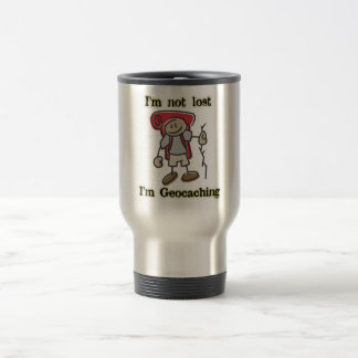 """""""I'm Not Lost"""" Geocaching Graphic Stainless Mug"""