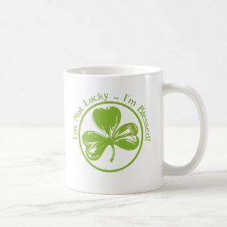 I'm Not Lucky, I'm Blessed Clover Coffee Mug