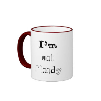 I'm not Moody, I'm Dramatic Ringer Mug
