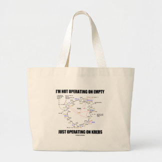 I'm Not Operating On Empty Just Operating On Krebs Tote Bags