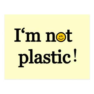 i'm not plastic postcard