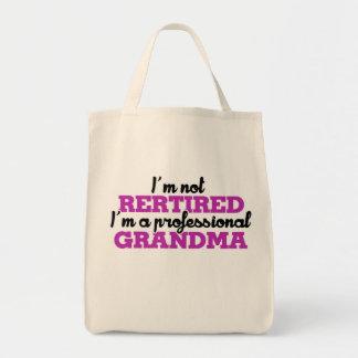 I'm not retired I'm a professional grandma Grocery Tote Bag