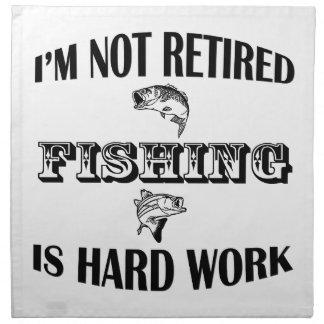 I'm Not Retired Napkin