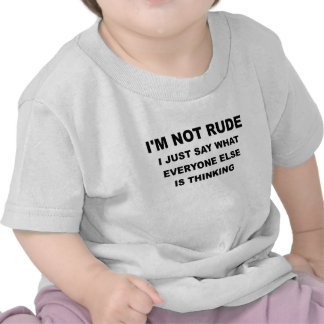 IM NOT RUDE png Shirts